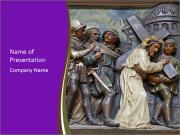 Relief of Christ under the cross PowerPoint Template
