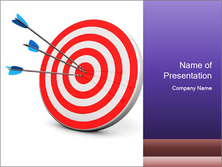red target powerpoint template backgrounds google slides id