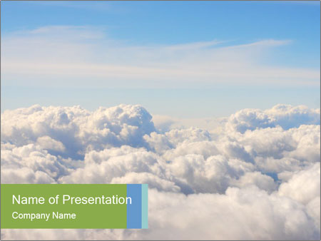 Clouds Powerpoint Template Backgrounds Google Slides Id