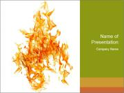 Orange flame PowerPoint Template