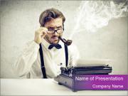 Writer smokes PowerPoint Template