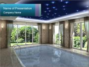 Luxurious indoor swimming pool PowerPoint Template