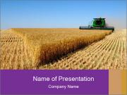 Combine harvesting PowerPoint Template