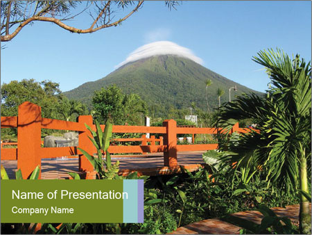 Arenal Volcano Powerpoint Template Backgrounds Google Slides Id
