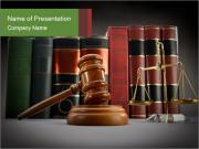 Law Books PowerPoint Template