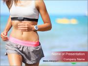 Runner woman PowerPoint Template