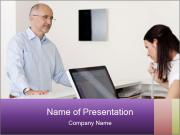 Female receptionist PowerPoint Template