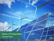 Wind turbines PowerPoint Template