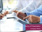 Adviser analyzing PowerPoint Template