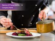 Chef in hotel PowerPoint Template