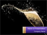 Glass of champagne PowerPoint Template