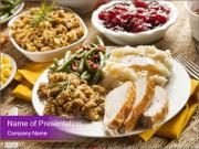 Turkey Thanksgiving Dinner PowerPoint Template