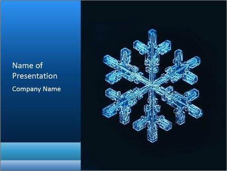 snowflake powerpoint template smiletemplates com
