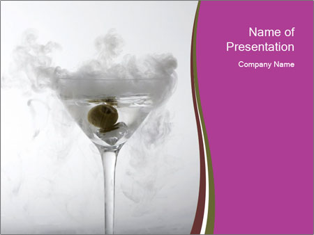 A Smokey Dry Ice PowerPoint Template