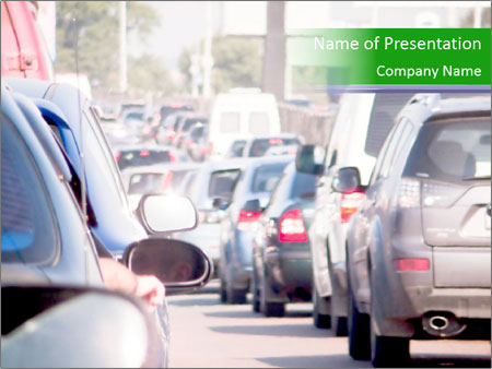 Cars line up PowerPoint Template
