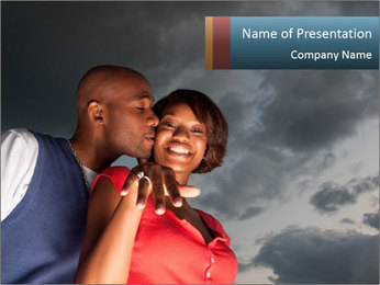 A man kisses PowerPoint Template