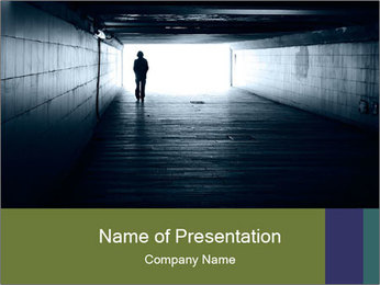 Lonely silhouette PowerPoint Template
