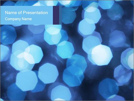 Blue Lights PowerPoint Template