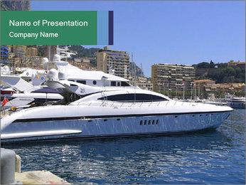 Monaco harbor PowerPoint Template