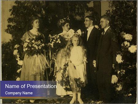 Vintage wedding PowerPoint Template