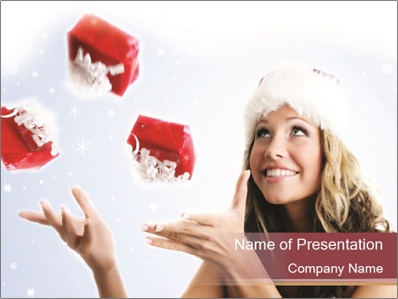 Winter portrait PowerPoint Template