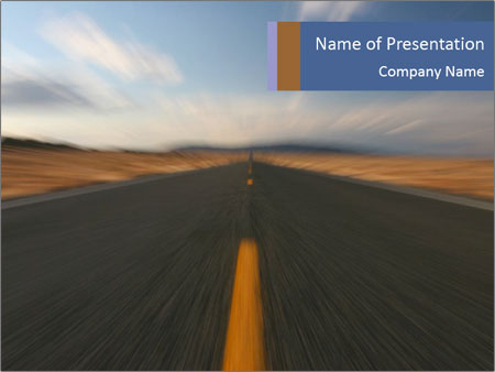 Endlessly long road PowerPoint Template