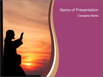 Statue of Jesus PowerPoint Template