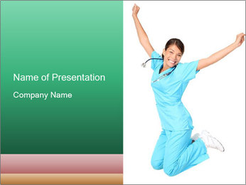 Nurse woman PowerPoint Template
