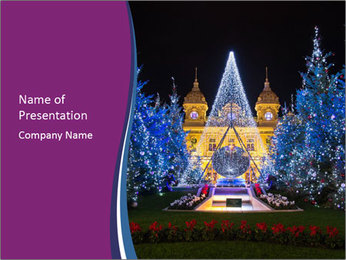 Christmas tree PowerPoint Template