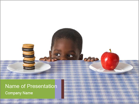 A young African American boy PowerPoint Template