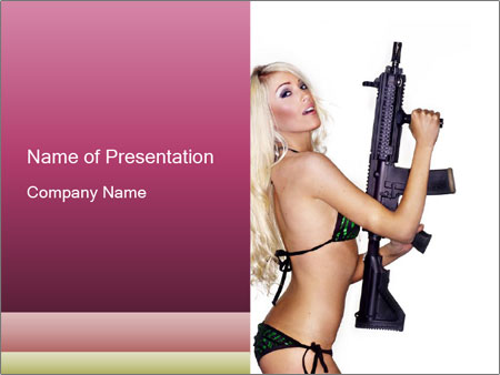 Beautiful sexy blond PowerPoint Template