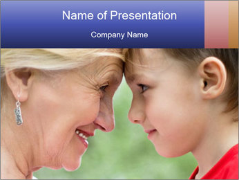 Grandmother with grandson PowerPoint Template