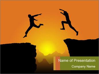 Jumping men PowerPoint Template