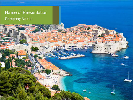 A panoramic view PowerPoint Template