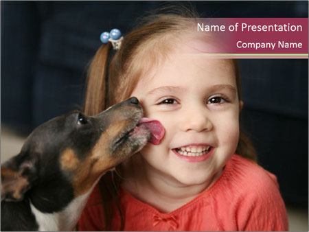 Smiling young girl PowerPoint Template
