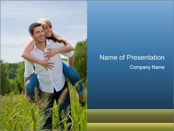 Outdoor couple PowerPoint Template