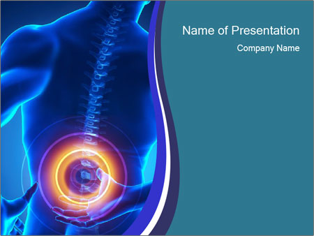Painful lumbar spine part PowerPoint Template