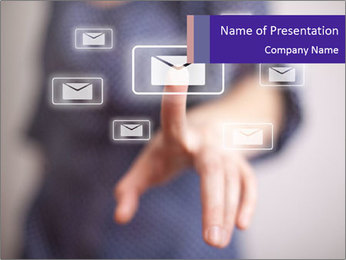 Woman hand PowerPoint Template