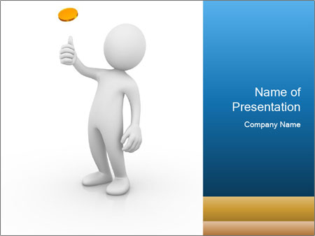 Flip coin PowerPoint Template