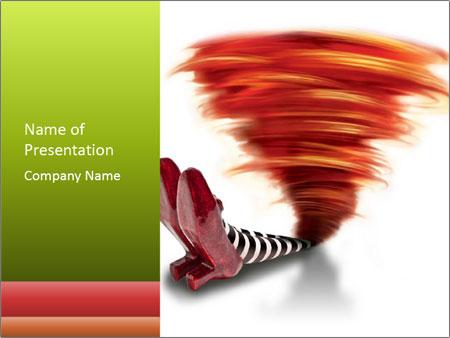 Tornado fallen PowerPoint Template