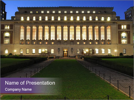 Library at Columbia University PowerPoint Template