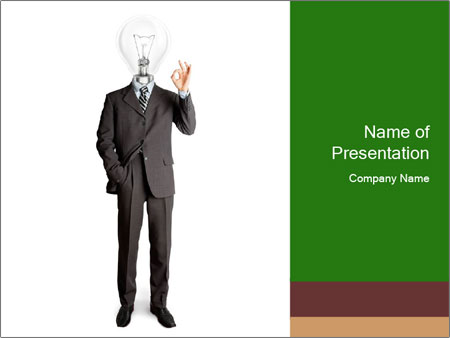 Full length business male PowerPoint Template