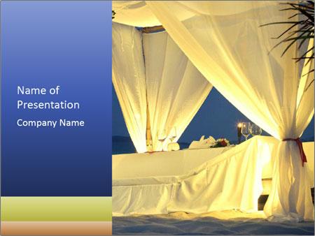 Restaurant tent PowerPoint Template