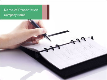 Writing on the book PowerPoint Template