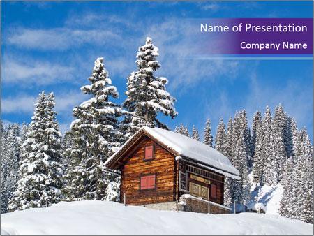 Winter in swiss alps (Braunwald, Glarus, Switzerland) PowerPoint Template