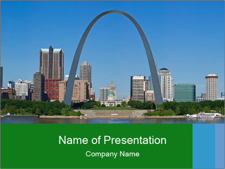 Panoramic view PowerPoint Template