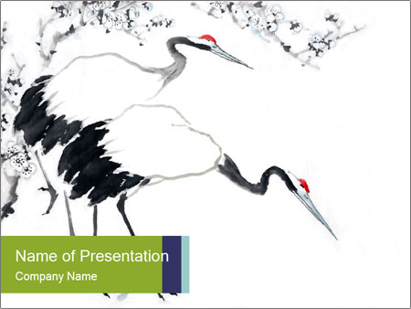 Chinese Painting PowerPoint Template & Backgrounds ID 0000098138 ...