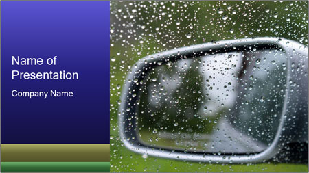 driving in rain powerpoint template backgrounds google slides