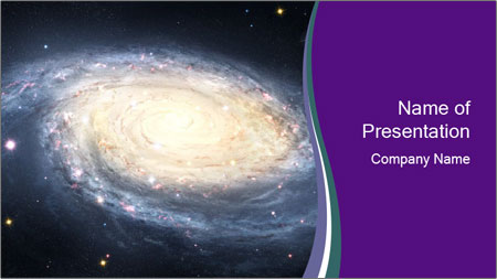 spiral galaxy powerpoint template backgrounds google slides id