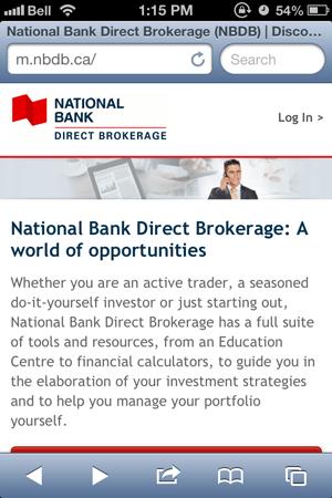 National bank direct brokerage options trading